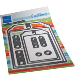 CR1551 Marianne Design Craftables Big tag