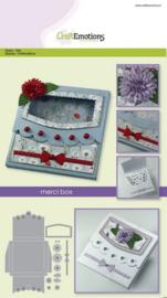115633/1503 CraftEmotions Die merci box Card A5 box