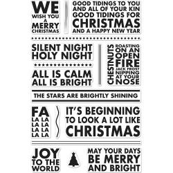 "HA-CM189 Hero Arts Clear Stamps Poster Christmas Carols 4""X6"""