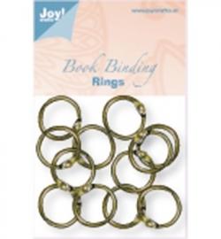6200/0130 Boekbinders-ringen Antiek/koper 25 mm