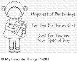 PI-283 My Favorite Things Pure Innocence For the Birthday Girl Clear Stamps
