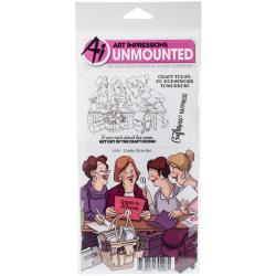 484497 Art Impressions Girlfriends Cling Rubber Stamps Crafty Girls