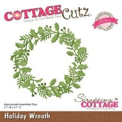"416447 CottageCutz Elites Die Holiday Wreath, 3.1""X3.1"""