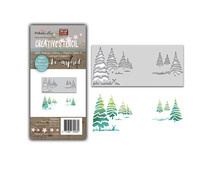 PD8098 Polkadoodles Winter Trees Layering Stencil