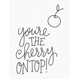 """CS491 My Favorite Things Clear Stamps Cherry On Top 3""""X4"""""""