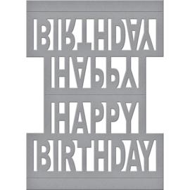 S4717 Spellbinders Shapeabilities Dies Happy Birthday Pop Up