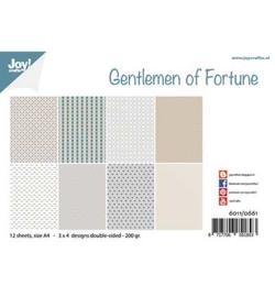 6011/0661 Joy!Crafts  Papier Set A4 Gentlemen of Fortune
