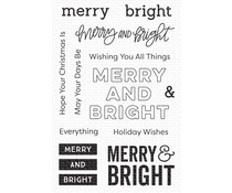CS-506 My Favorite Things Merry & Bright Clear Stamps