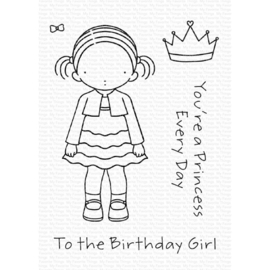 "PI305 My Favorite Things Pure Innocence Stamps Birthday Girl 3""X4"""