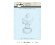DSC-057 Spellbinders Prickly Pear 3D Shading Stamp