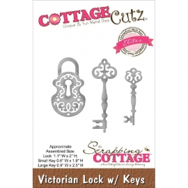 "423185 CottageCutz Elites Die Victorian Lock W/Keys, 1.1""X2"""