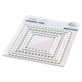 PF057ES  Pinkfresh Studio Essentials Die Set Stitched Scallop Square