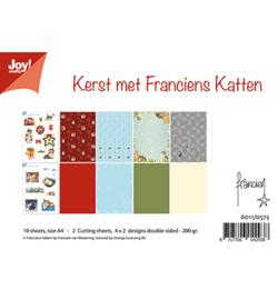 6011/0573 Papierset  A4 Kerst met Franciens Katten
