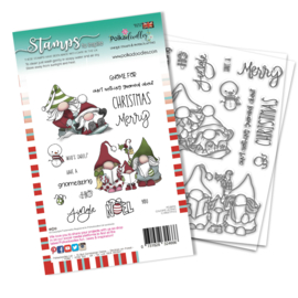 PD8096A Polkadoodles Gnomeazing Christmas Clear Stamps