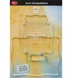 6764 MyPaperWorld Acrylic Blocks set (3)