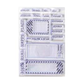 CS176 Elizabeth Crafts Clear Stamps Sidekick Essentials 1