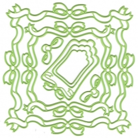 458831 Lea`bilities Cut & Emboss Dies Ribbon Frame Square
