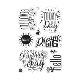 "620575 Hero Arts Clear Stamps 4""X6"" Affirmation Messages"