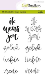 130501/1829 CraftEmotions clearstamps A6 handletter ik wens jou geluk..
