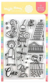 "605617 Waffle Flower Crafts Clear Stamps Ciao 4""X6"""