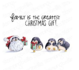 642000 Stamping Bella Cling Stamps Penguin Family