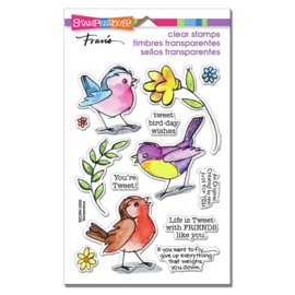 628808 Stampendous Perfectly Clear Stamps Sketchy Birds