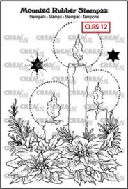 130505/5112 Crealies Mounted Rubber Stampzz no. 12 kaarsen