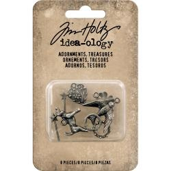 484560 Idea-Ology Metal Adornments Treasures Charms & Accents 8/Pkg