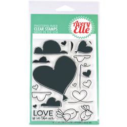 "304063 Avery Elle Clear Stamp Set Love Is In The Air 4""X6"""