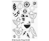 CS-323 My Favorite Things Mod Birds Clear Stamps