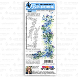 623320 Art Impressions Bible Journaling Clear Stamps Blossom Border