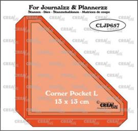CLJP657 Crealies Journalzz & Pl Pocket Corner L