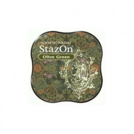 SZM-51 Tsukineko Stazon Midi Ink Pad Olive Green