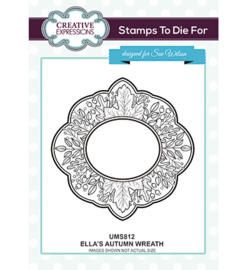 UMS812 To Die For Stamp Ella's Autumn Wreath
