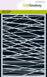 185070/1268 CraftEmotions Mask stencil - lijnen ruit kruislings onreg. A5