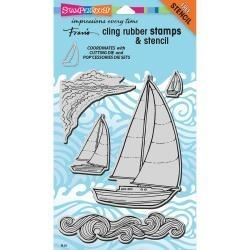 291299 Stampendous Fran's Cling Stamps & Stencils Sailboats