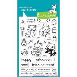 "LF2401 Lawn Fawn Clear Stamps Fox Costumes Before 'n Afters  4""X6"""