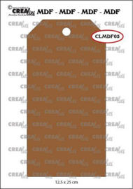CLMDF03 Crealies MDF label