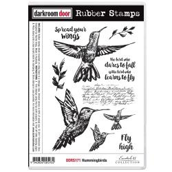 "DDRS171 Darkroom Door Cling Stamps Hummingbirds 7""X5"""