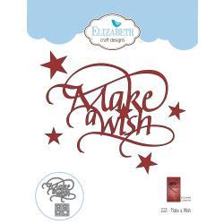 EC1553 Elizabeth Craft Metal Die A Way With Words-Make A Wish