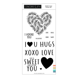 "648809 Concord & 9th Clear Stamps Sweet Talk 4""X8"""