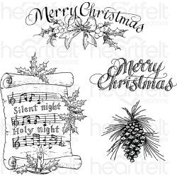 "243382 Heartfelt Creations Cling Rubber Stamp Set Silent Night 5""X6.5"""