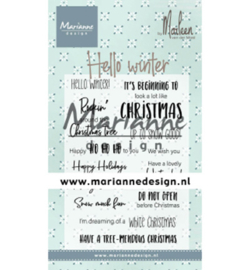 CS1037 Clear stamp Hello winter by Marleen