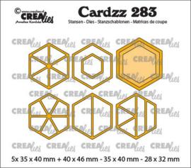CLCZ283 Crealies Cardzz Elements Zeshoeken