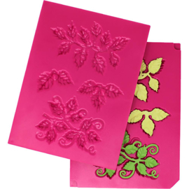 243464 Heartfelt Creations Shaping Mold 3D Leafy Accents