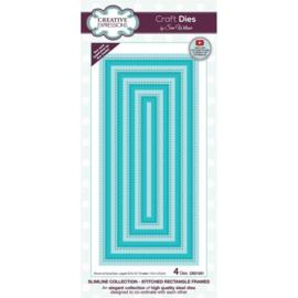 CED1251 Creative Expressions Craft die slimline Gestikte rechthoek frames