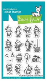 """LF2601 Lawn Fawn Clear Stamps Tiny Birthday Friends 3""""X4"""""""