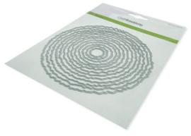 115633/0961 CraftEmotions Big Nesting Die - deckle cirkels Card 150x160 - 13,2cm