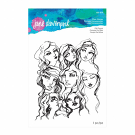 JDS-015 Jane Davenport Clear Stamps Girl Group