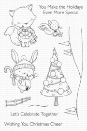 SY24 My Favorite Things Christmas Cheer Clear Stamps